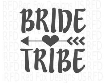amazon com bride tribe arrow vinyl sticker automotive