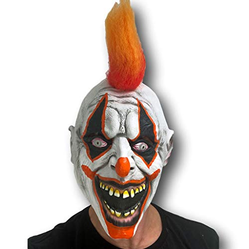 Rubber Johnnies Spike The Scary Clown Mask, Adult, One Size, Skull for $<!--$15.97-->