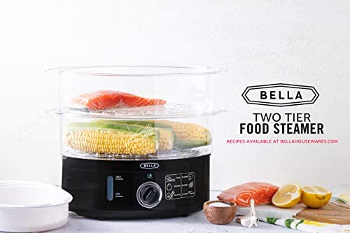 BELLA (13872) 7.4 Quart Healthy Food Steamer with 2-Tier Stackable Baskets 41sDRPVXV4L