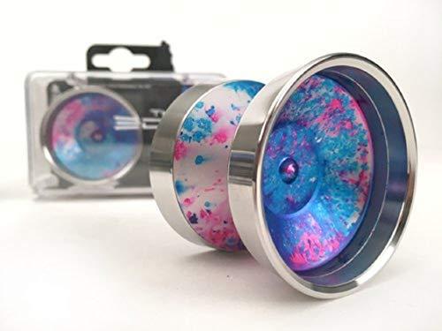 YoYoFactory Edge Beyond by Evan Nagao Yoyo Color Galaxy with Silver Rims by YoYoFactory (Image #1)