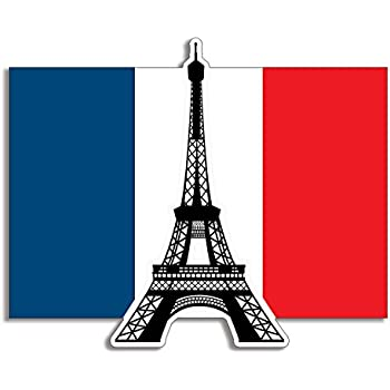 amazon com american vinyl eiffel tower on the france flag shaped
