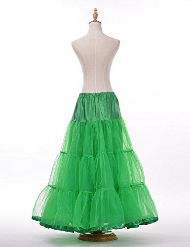 Remedios para mujer la altura del tobillo vestido de novia la enagua Medio Slip Verde