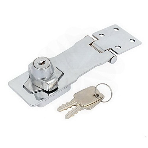 Latches Cabinet Mailbox 4-inch Long Keyed Entry Safety Guard Hasp Lock Latch w Screws By Houseuse