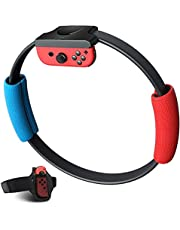 (Game NOT Included)Ring Fit Adventure for Switch, YIKESHU Ring Con and Leg Strap for Switch Ring Fit Adventure Game, YIKESHU NS Yoga Fitness Ring and Elastic Sport Movement Band Compatible with Adventure Accessories. Body Sensor Sports, Joy Con Controllers