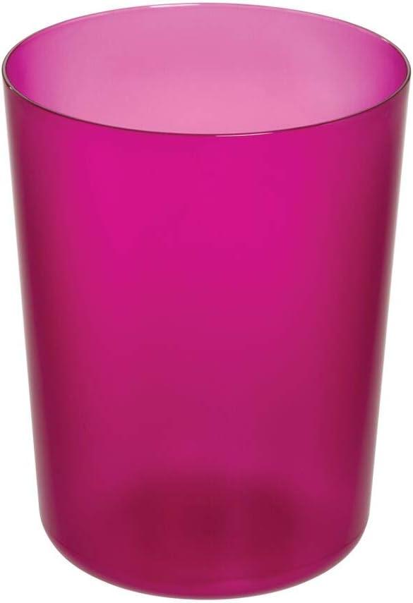 18 Rosa JUNGEN Cestino per la Carta Cestino Spazzatura Ufficio Plastica Modello Traforato Cestino Bagno Cestino per Rifiuti 24 29 CM