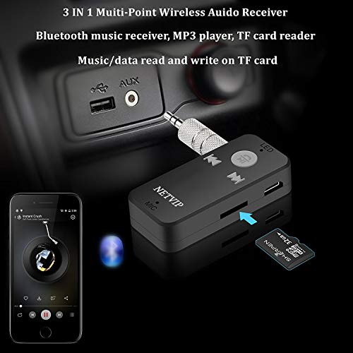 Black Bluetooth Receiver Portable Zidzon Car Adapter/&Bluetooth Car Aux Adapter for Music Streaming Sound System Audio Adapter /& Wireless Car Kits for Home//Car Audio Stereo System Data Cables