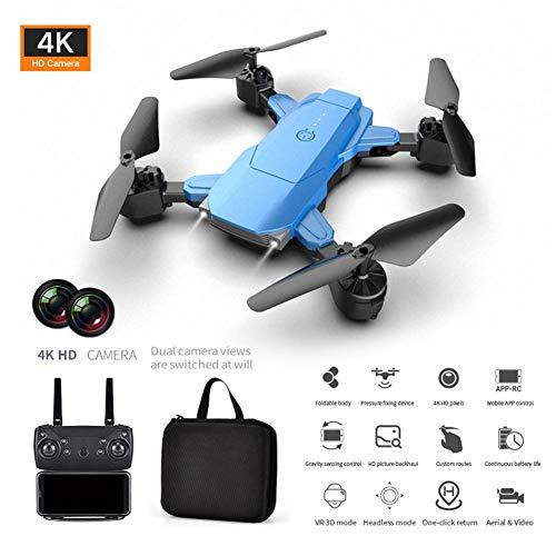 HD 4K Droni, K2 Cámara dual Quadcopter Altitud de alta resistencia Hold HD 4K Fotografía aérea Drone plegable Control…