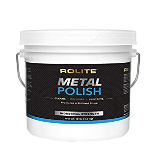 Rolite Metal Polish Paste – 10lb, Industrial Strength Polishing Cream for Aluminum, Chrome, Stainless Steel & Other Metals, 1 Pack