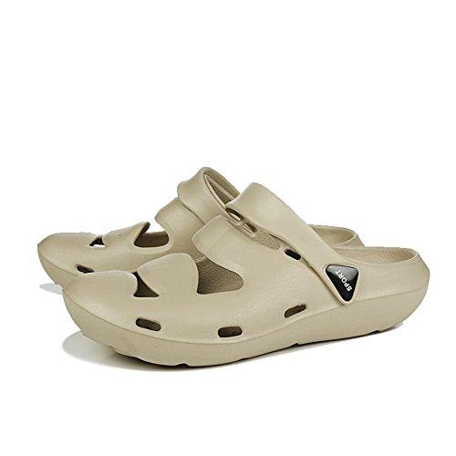 45EU Size coloured da shoes Color uomo Muli Juan coloured Cream Sandali brown 39EU Brown unita punta con da tinta Tacco Cream Scarpe casual piatto fino alla taglia cava chiusa uomo Ewqgq