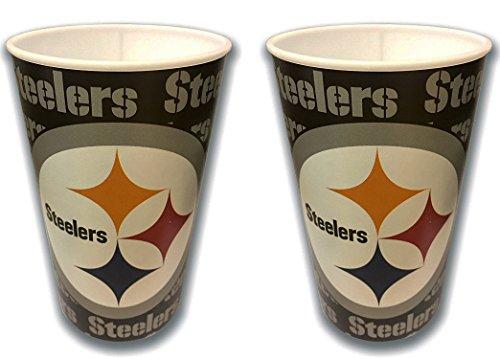 Technimark Pittsburgh Steelers 22 oz Stadium Cup 2 pack]()