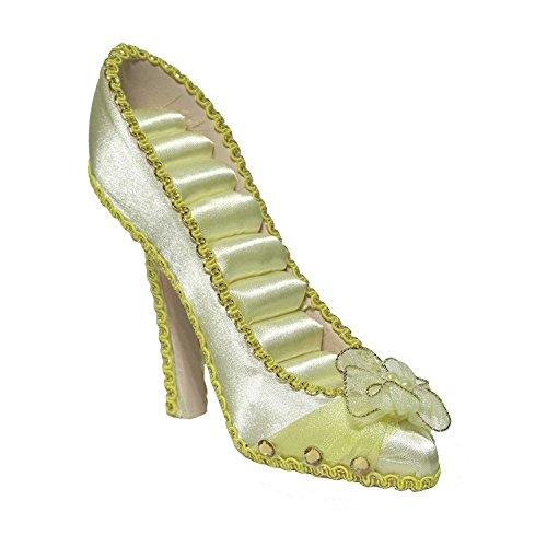 Satin Flower Shoe Ring Display HW214 (Gold)