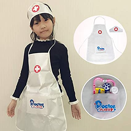 5f3a14d9cc603 Amazon.com: XuBa Fancy Kids Christmas Costume Doctor and Nurse Costumes Suit  Children's Apron PRET Halloween School Activities Suits Show: Home & Kitchen