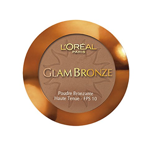 L'Oreal Glam Bronze Compact Long Lasting Bronzing Powder SPF 10 - N° 09 Cannelle / Golden (Loreal Bronze Bronzing Powder)