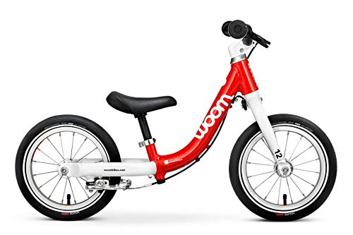 "Woom 1 Balance Bike 12"", Ages 18 Months to 3.5 Years, Red"