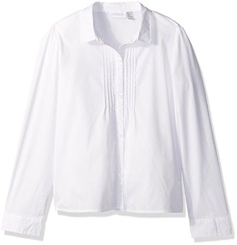 The Children's Place Big Girls' Uniform Long Sleeve Blouse, White 44158, XXL(16)