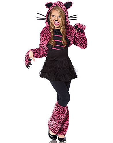 Costume Culture Bad Kitty Girl's Costume, Pink, Large (Unique Little Girl Halloween Costumes)