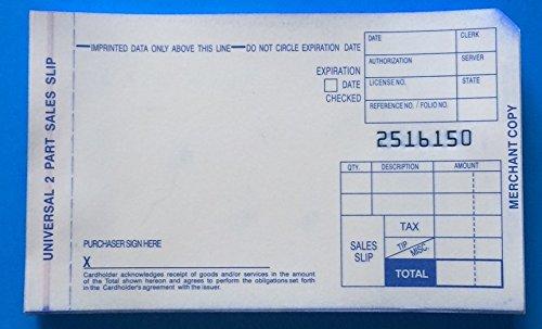 2 Part Short Sales Draft 500 Imprinter Slips