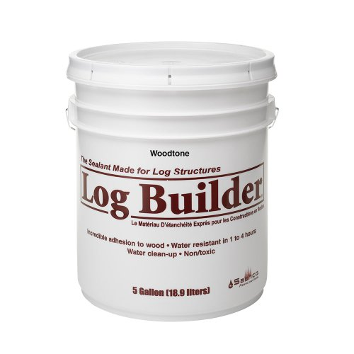 (Sashco Log Builder Acrylic Latex Chinking Sealant, 5 Gallon Pail, Woodtone (Pack of)