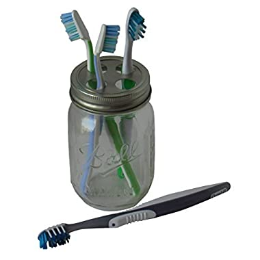 Classic Country Mason Jar Toothbrush Holder