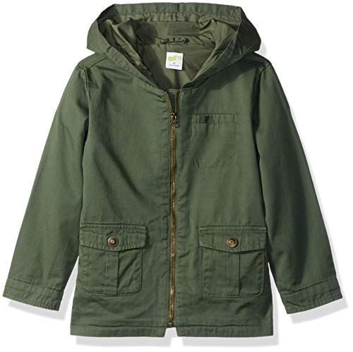 Price comparison product image Crazy 8 Girls' Toddler Fashion Millitary Jacket, Army Green Paprika, 4T