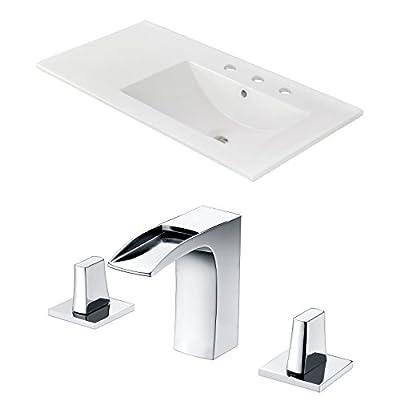 American Imaginations AI-888-22257 Ceramic Top Set, White