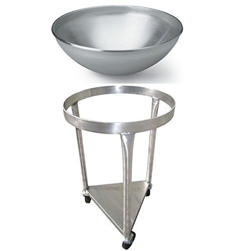 Heavy-Duty All-Stainless-Steel Mobile Dolly Stand for 80-Quart Vollrath Mixing Bowl 79800 - Bowl Included ()