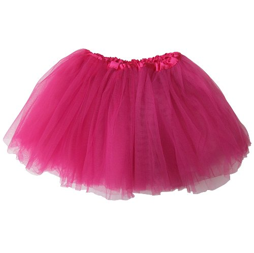 So Sydney Ballerina Basic Girls Ballet Dance Dress-Up Princess Fairy Costume Dance Recital Tutu (Hot Pink) -