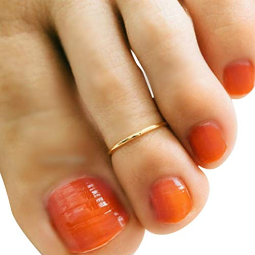 14k Gold Filled 1mm Thin Wire Plain Band Adjustable Toe Ring