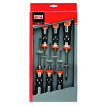 Snap-on Industrial Brand BAHCO 202021 6-Piece Thru-Blade Slotted and PoziDriv Screwdriver Set