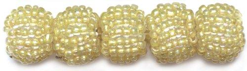 (Glass 14mm Bead - Beaded Bead 8PK/Yellow)