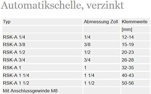 10 St/ück Rohrschellen 40-43 mm 1 1//4 Zoll Gelenkrohrschellen Gelenkschellen mit Gummieinlage DIN 4109