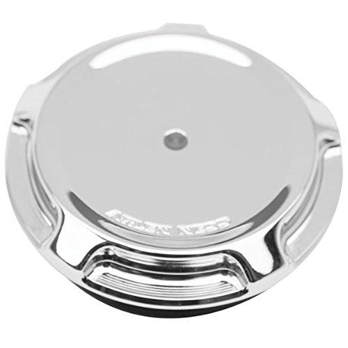 Chrome Derby Covers Billet (Arlen Ness 70-301 Chrome Billet Gas Cap/LED Fuel Gauge Cap)