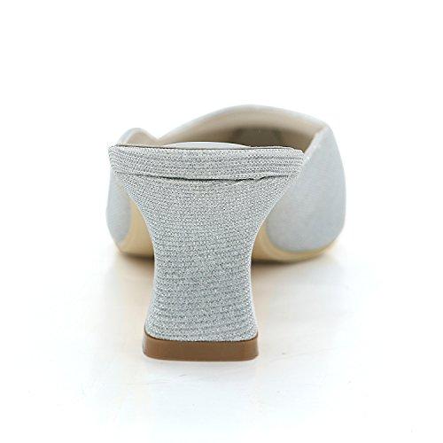 Été Ager Chaussures 5 De Mariage Flower Gold Chunky Soirée Pointu Pompe Base EU37 Bout Chaussures Glitter De 5 Cm 2 Talon Pouces De Et Printemps Talons Femmes 17 dwgqgX