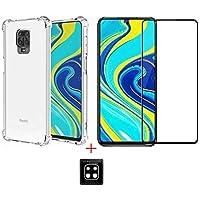 Kit Capa + Película Vidro 3D 5D 9D 11D + Película Câmera Gel para Xiaomi Redmi Note 9S / NOTE 9 PRO/NOTE 9 PRO MAX (NÃO…