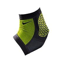 Nike Pro Combat Hyperstrong Ankle Sleeve (Medium, Black/Volt)