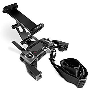 Tineer Remote Control Extended Front Holder Bracket for DJI Mavic 2 Pro Zoom/Mavic Mini/Mavic Air/Spark Drone, Support 4.6-11Inches Front Holder for Phone Tablet Mount Clip