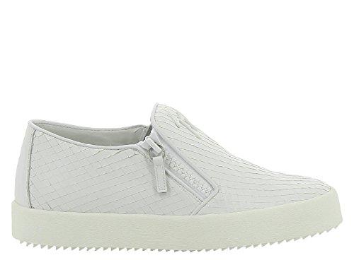 Giuseppe Zanotti Slipper Sneaker aus weißem Leder - Modellnummer: RS6006 003 - Größe: 39 IT / 40 EU