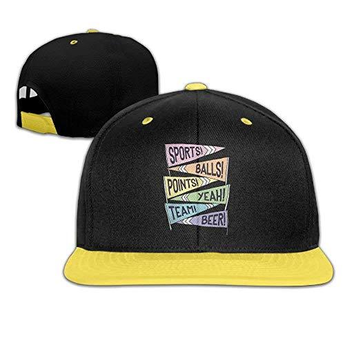 WHROOER Kids Hat Kids Baseball Cap Colour Plain Hip Hop March Madness Yeah!!! Match Slogan Pennants