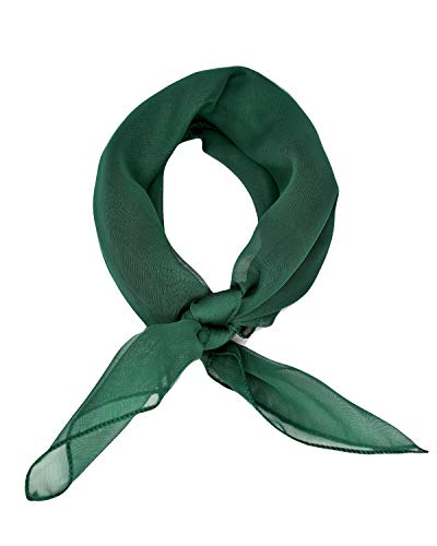 Sidecca Retro Classic Chiffon Square Neck Head Scarf-Hunter ()