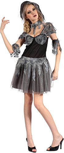 (Ladies Halloween Horror Party Fancy Dress Ghost Gothic Bride Costume)