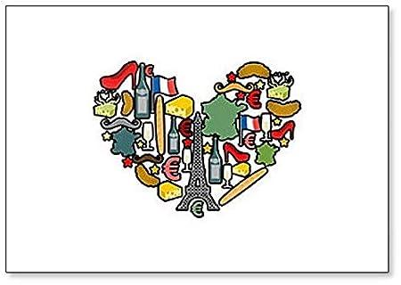 I Love Paris. Imán para nevera con diseño de símbolos y iconos ...