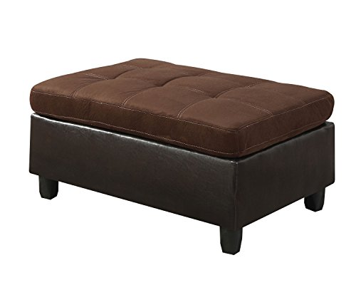 ACME Milano Chocolate Easy Rider Ottoman (Milano Collection Storage)
