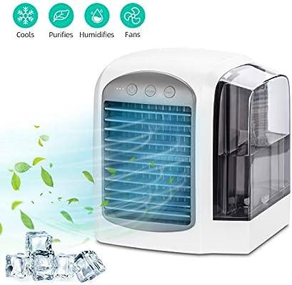 Aidodo Minienfriador de aire, purificador de aire, humidificador 3 en 1, aire acondicionado portátil, 3 niveles de velocidad, para el hogar, oficina, hotel: Amazon.es: Grandes electrodomésticos