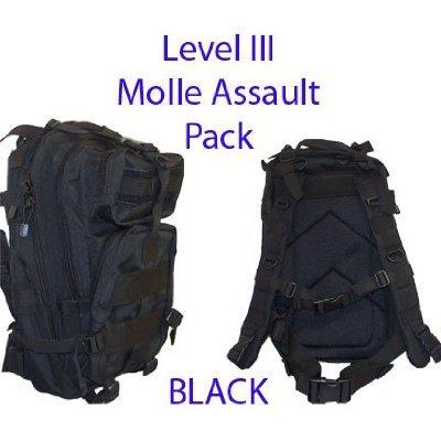 60%OFF Level III Lv3 Molle Assault Pack Backpack--BLACK