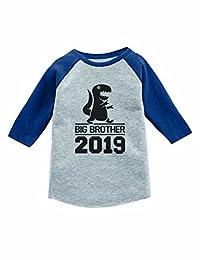 Tstars Gift for Big Brother 2019 T-Rex Boy 3/4 Sleeve Baseball Jersey Toddler Shirt