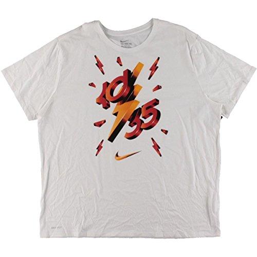 Nike Mens Stora & Hög Grafisk Dri-fit T-shirt Vit Xl