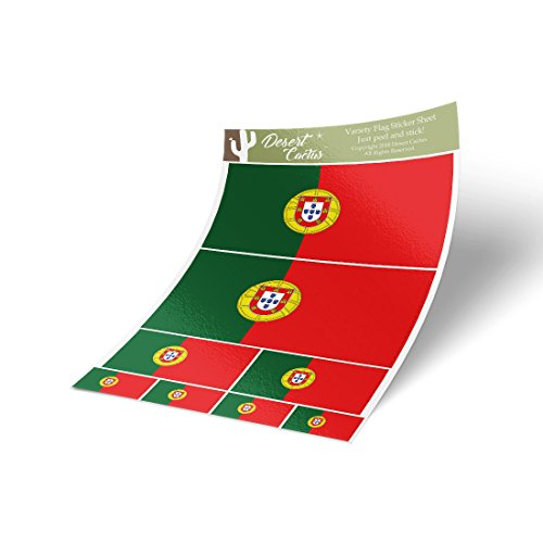 Desert Cactus Portugal Country Flag Sticker Decal Variety Si