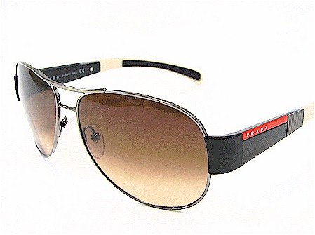 8c26d200364f3 Prada Sps 51H Sps51H Brown Gradient Lens 5Av-6S1 Shiny Gunmetal Frame  Sunglasses - Size  59-14-135  Amazon.co.uk  Clothing