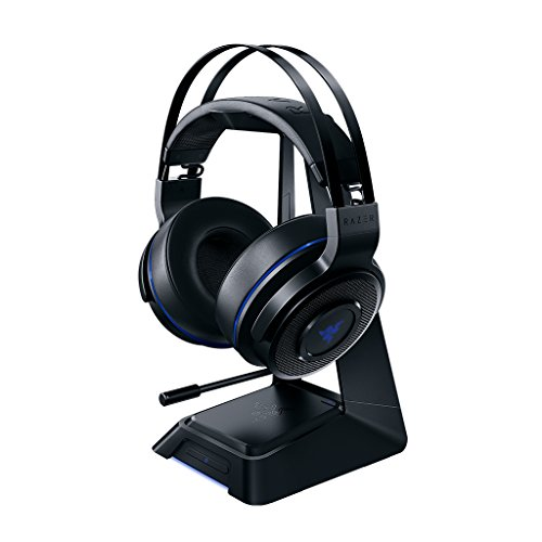 Audio Master Station (Razer Thresher Ultimate for PS4: Dolby 7.1 Surround Sound - Lag-Free Wireless Connection - Retractable Digital Microphone - Base Station Wireless Receiver - Gaming Headset Works with PC & PS4)