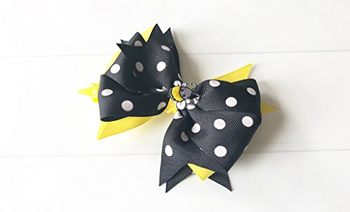 Bumble Bee Hair Bow (Bumble Bee Bow)